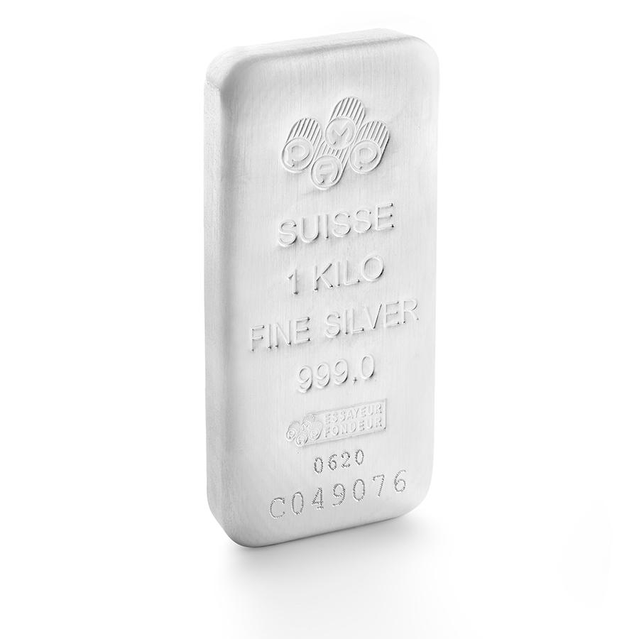 Comprare 1 kg lingotto d'argento puro 999.0 - PAMP Suisse - 3/4 view