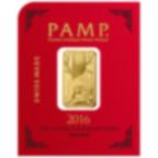 8x1 gramme multigramme lingotin d'or pur 999.9 - PAMP Suisse Lunar Singe