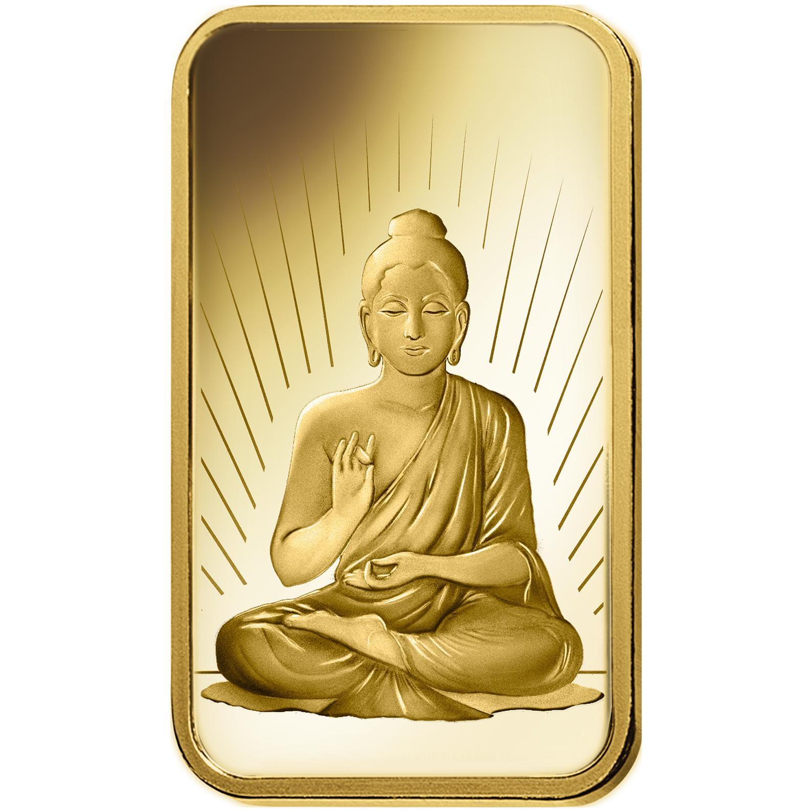 10 grammi lingottino d'oro puro 999.9 - PAMP Suisse Buddha