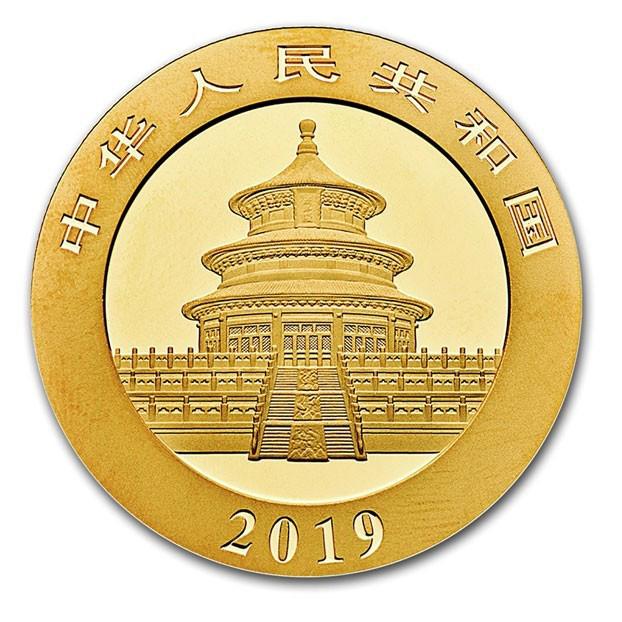 30 grammi moneta d'oro - Panda BU 2019