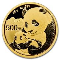 30 Gramm Goldmünze Panda BU 2019