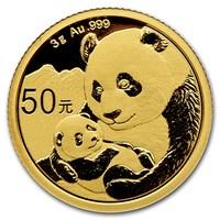 Panda Chinois en or de 3 grammes BU - 2019