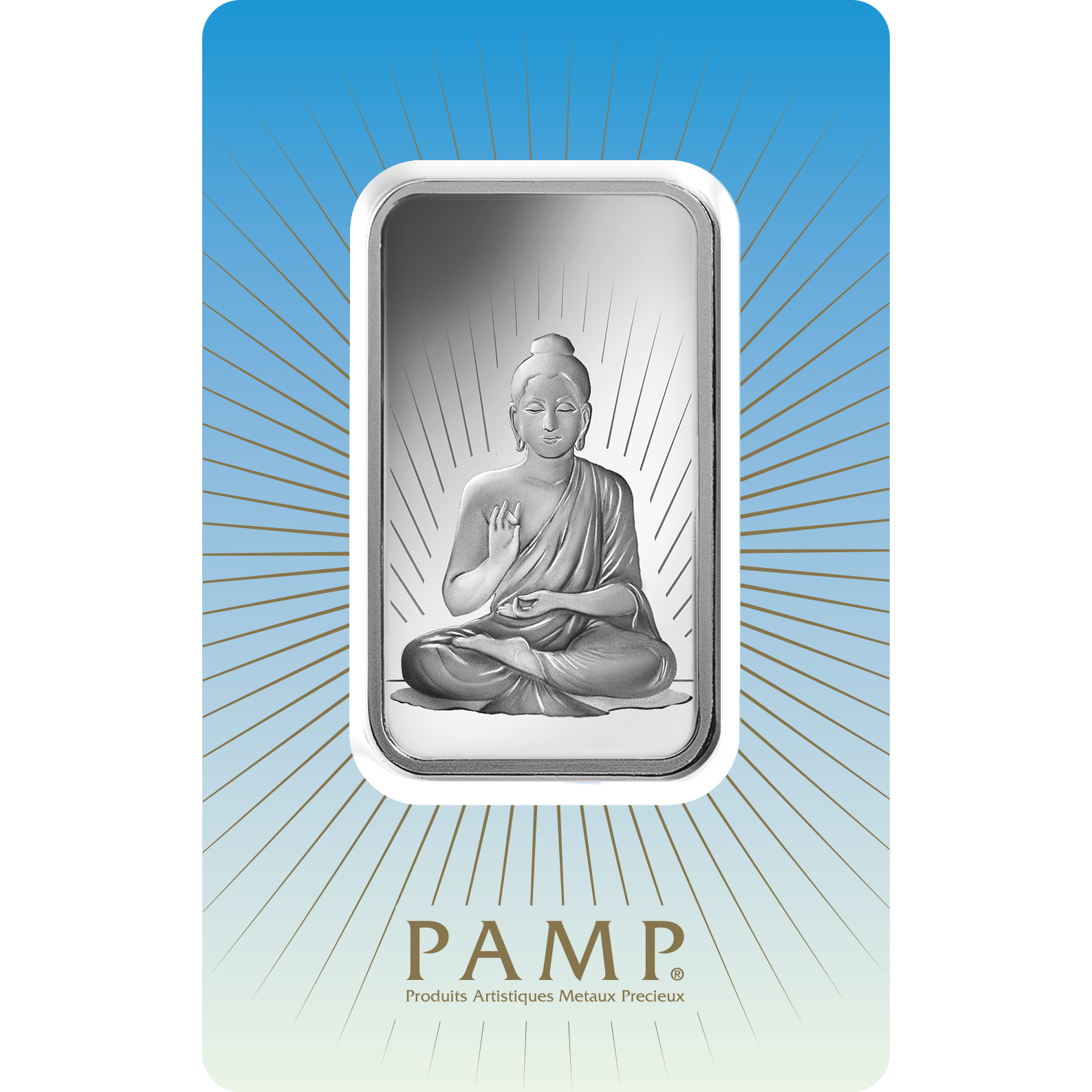 1 oncia lingottino d'argento puro 999.0 - PAMP Suisse Buddha