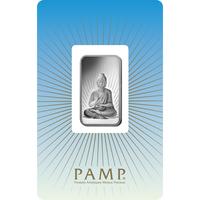 10 grammes lingotin d'argent - PAMP Suisse Bouddha