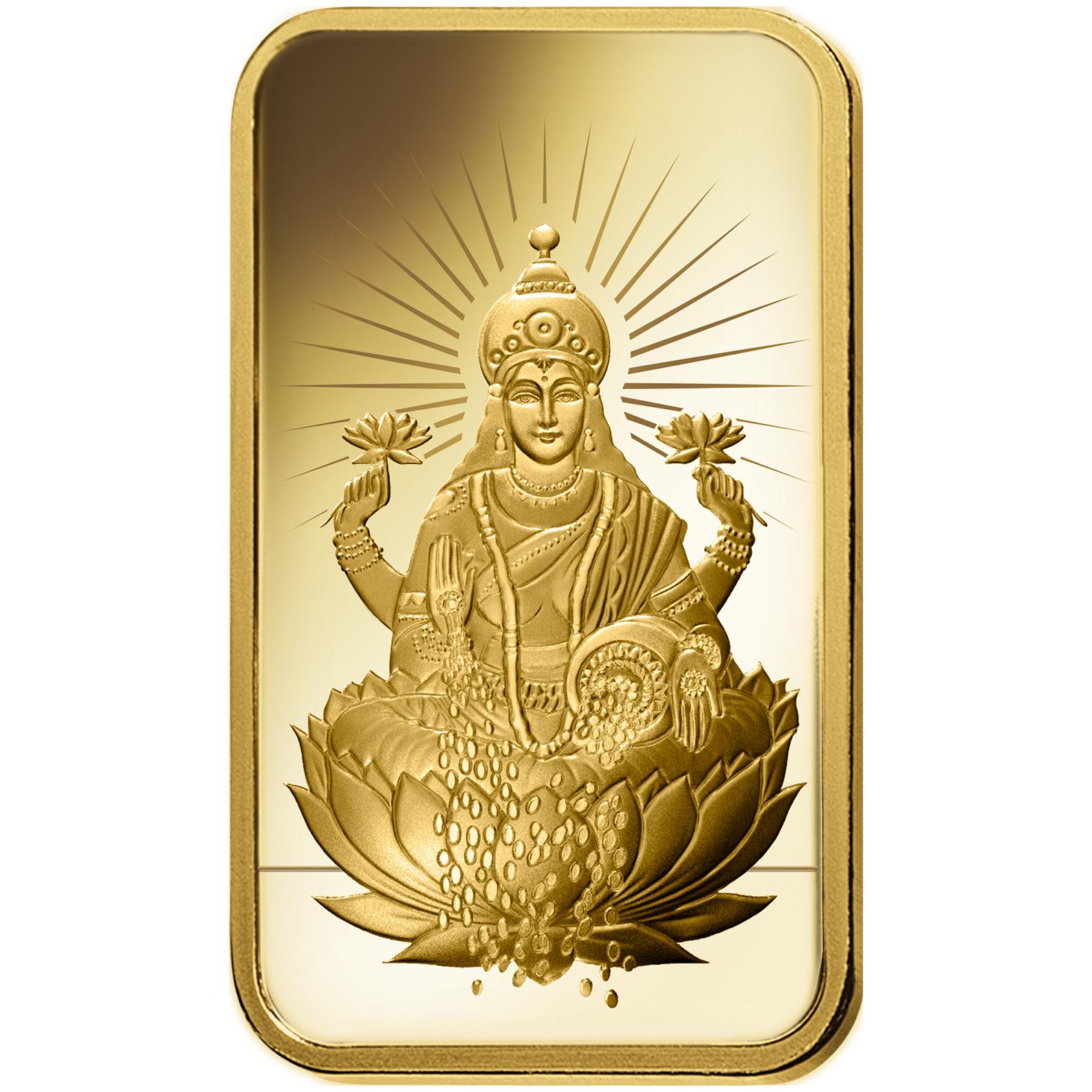 10 grammes lingotin d'or pur 999.9  - PAMP Suisse Lakshmi
