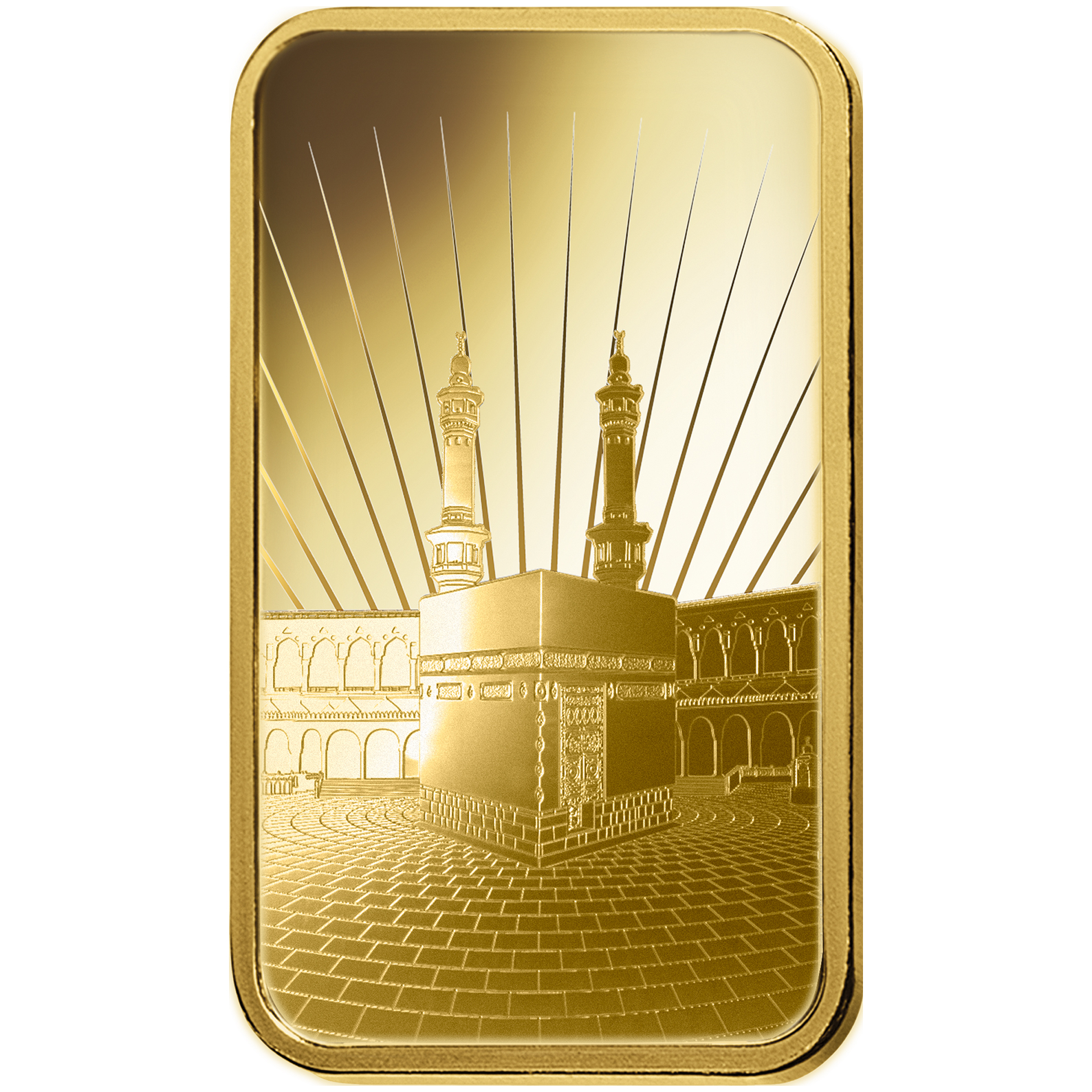 1 once lingotin d'or pur 999.9 - PAMP Suisse Ka'Bah Mecca