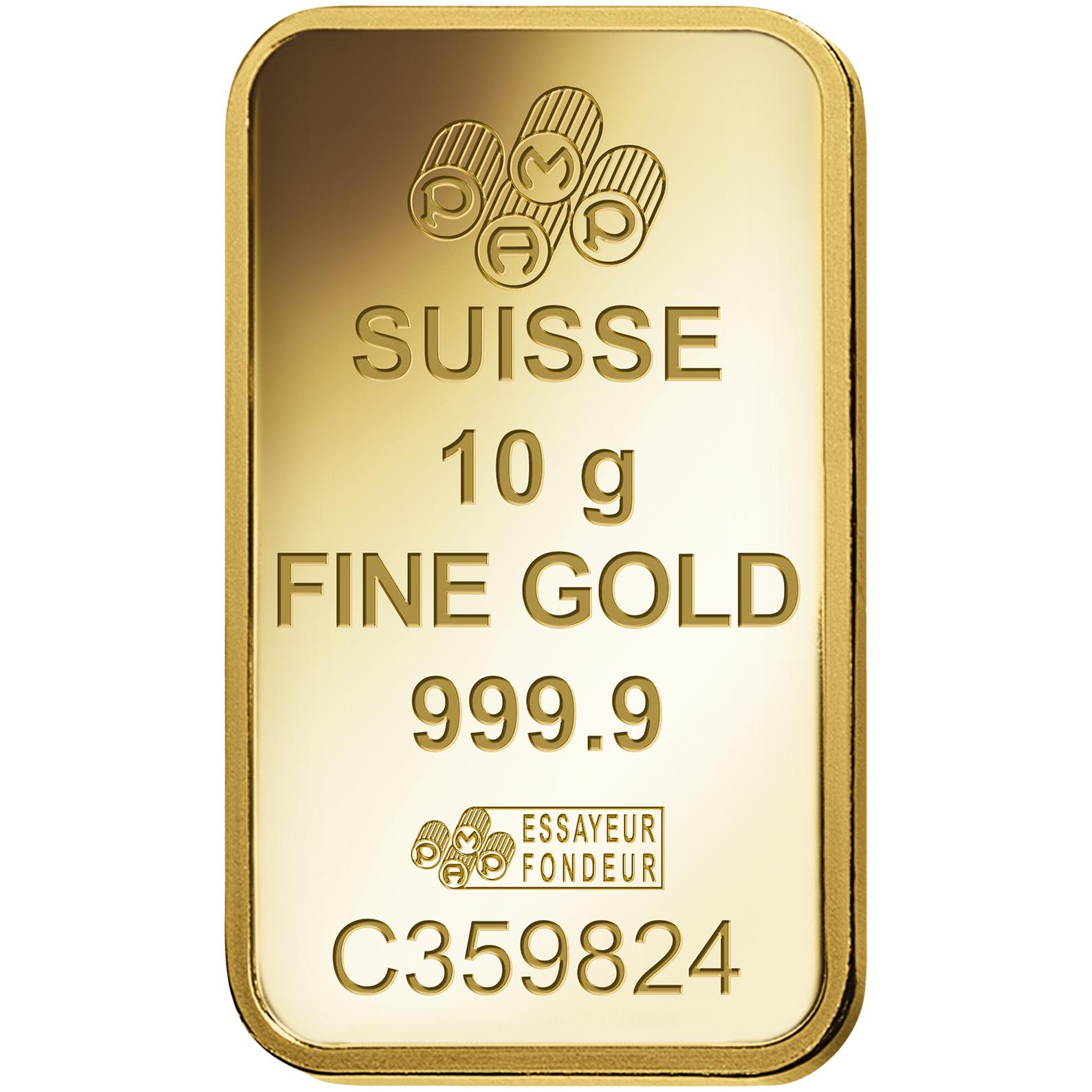 10 gram Fine Gold Bar 999.9 - PAMP Suisse Ka'Bah Mecca