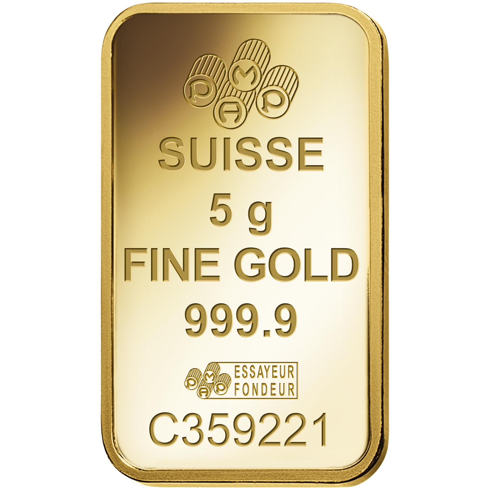 5 grammes lingotin d'or pur 999.9- PAMP Suisse Ka'Bah Mecca