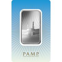Lingotin d'argent de 1 once - PAMP Suisse Ka'Bah Mecca