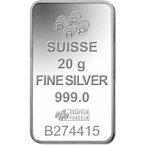20g Silver Bar Pamp Suisse Lady Fortuna Gold Avenue