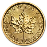 2019 Canada 1/10 oz Gold Maple Leaf BU