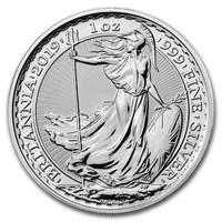 1 Unze Silbermünze - Britannia BU 2019