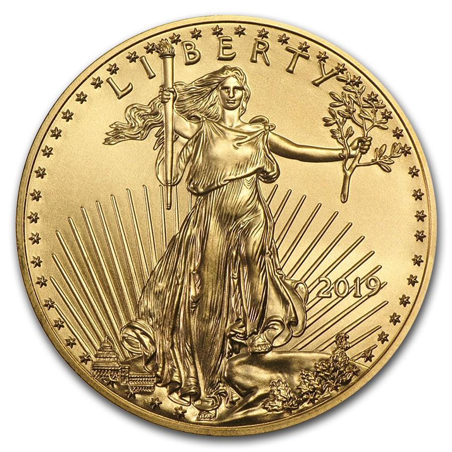 2019 1/10 oz Gold American Eagle BU