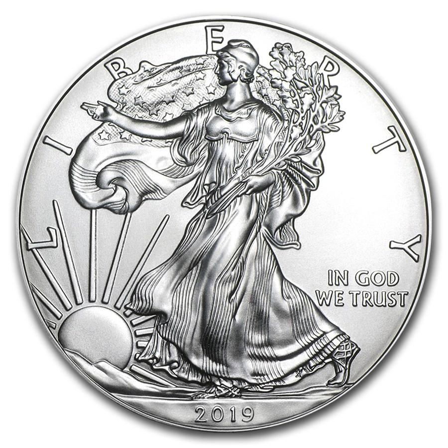 1 oncia moneta d'argento - American Eagle BU 2019