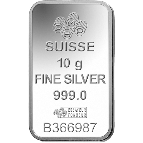 10 gram Silver Bar - PAMP Suisse Lady Fortuna