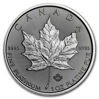 2019 1 oz Canada Platinum Maple Leaf BU