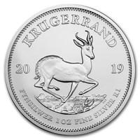 2019 Krugerrand d'argento 1 oncia BU