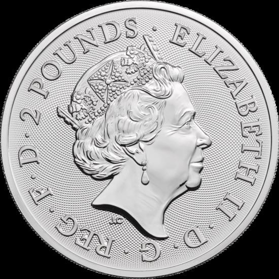 1 oncia moneta d'argento - Lunar Anno del Maiale BU 2019