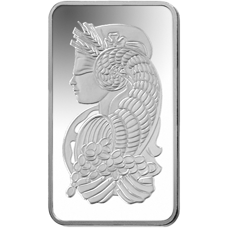 5 gram Silver Bar - PAMP Suisse Lady Fortuna