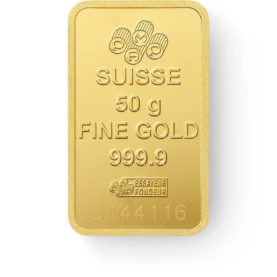 Buy 50 grams Fine gold Lady Fortuna - PAMP Swiss - Back