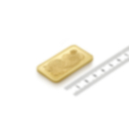 Invest in 50 grams Fine gold Lady Fortuna - PAMP Swiss - Ruler view