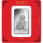 100 gram Fine Silver Bar 999.0 - PAMP Suisse Lunar Dog
