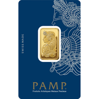 1 tola Gold Bar - PAMP Suisse Lady Fortuna Veriscan
