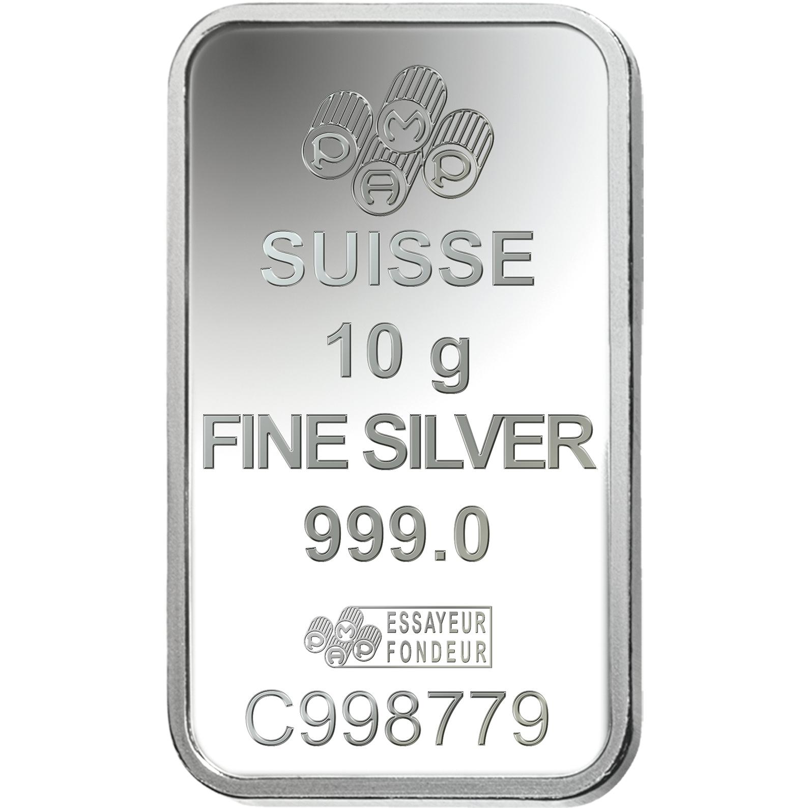 10 gram Silver Bar - PAMP Suisse Am Yisrael Chai