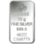10 grammi lingottino d'argento puro 999.0 - PAMP Suisse Am Yisreal Chai