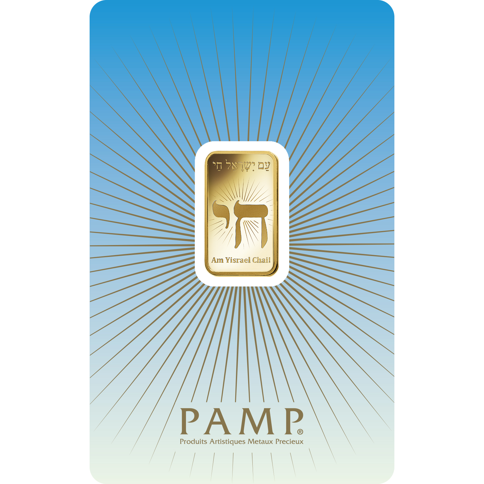 5 gram Gold Bar - PAMP Suisse Am Yisrael Chai