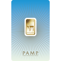5 gram Gold Bar - PAMP Suisse Am Yisreal Chai