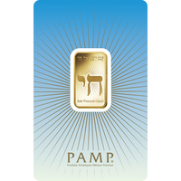 10 gram Gold Bar - PAMP Suisse Am Yisreal Chai