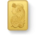 investir dans l'or, 25x1 gramme Lingotin, Lingot d'or pur Lady Fortuna - PAMP Suisse - Front