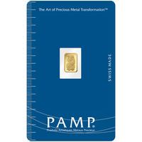 Lingotin d'or de 0.5 gramme - PAMP Suisse Lady Fortuna
