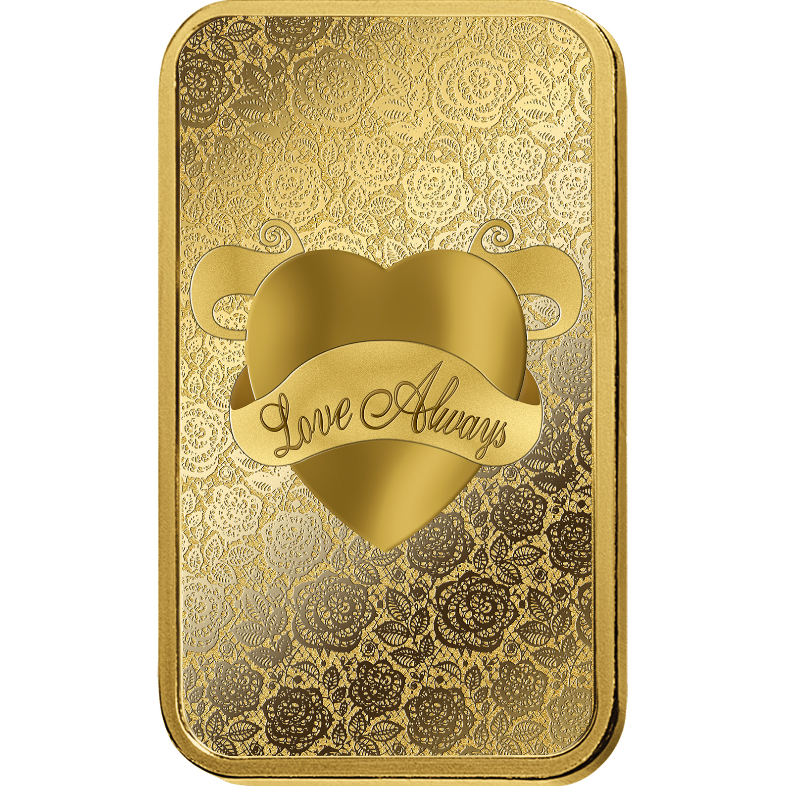 1 oncia lingottino d'oro - PAMP Suisse Love Always