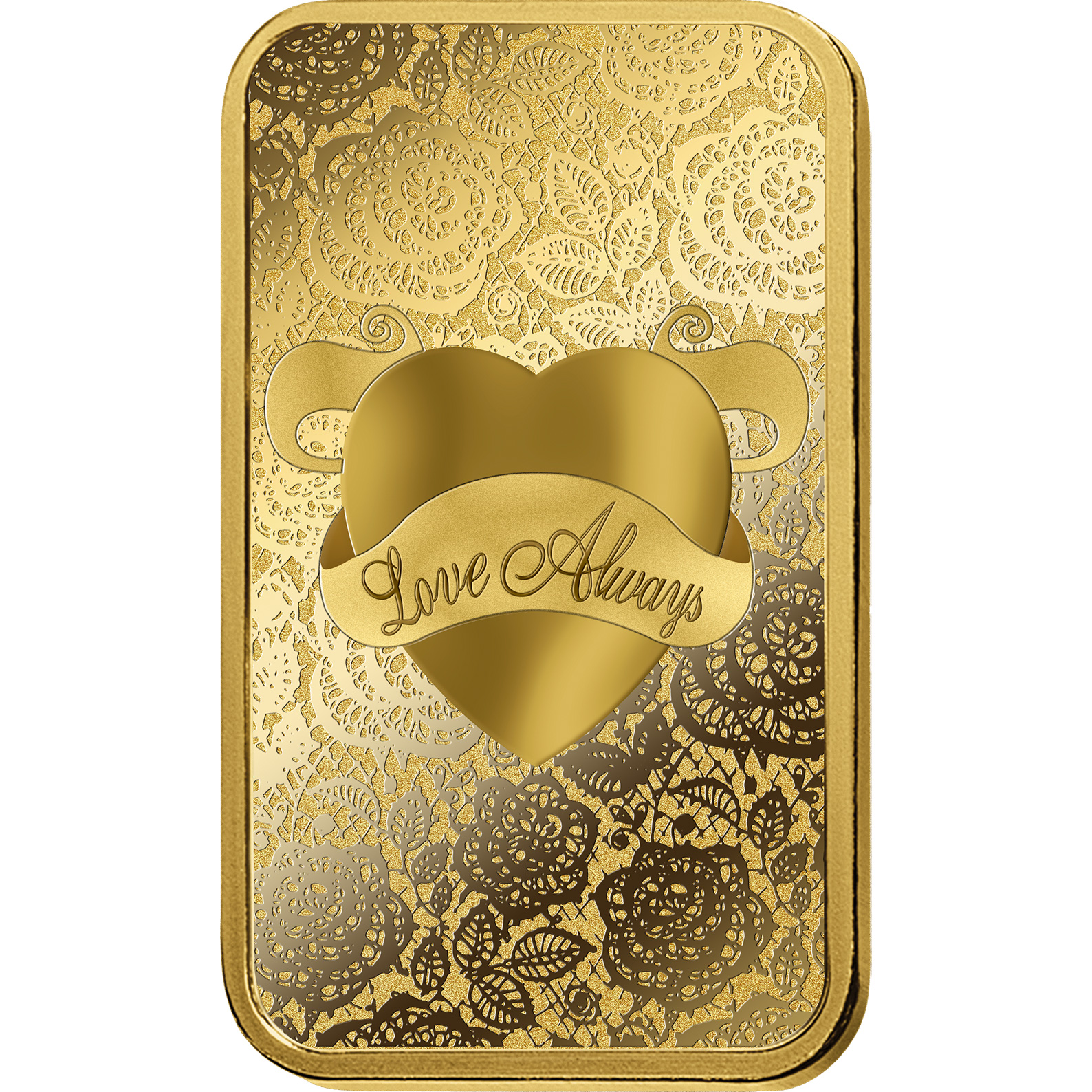 10 grammes lingotin d'or pur 999.9 - PAMP Suisse Love Always