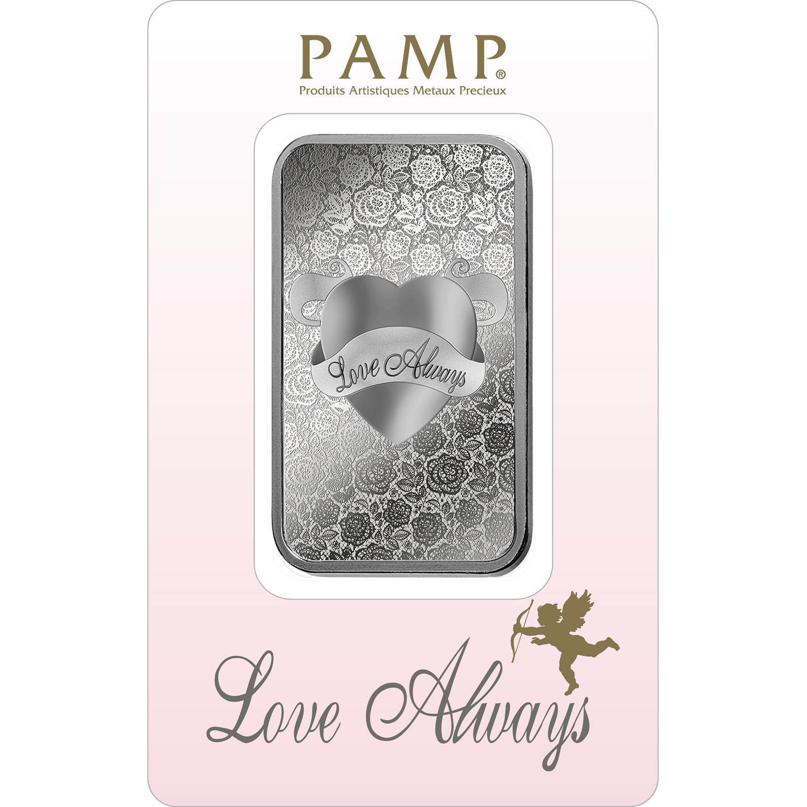 1 oz Silver Bar - PAMP Suisse Love Always