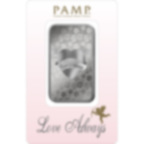 1 oncia lingottino d'argento puro 999.0 - PAMP Suisse Love Always