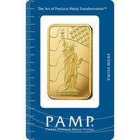 50 gram Gold Bar - PAMP Suisse Liberty