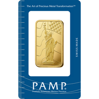 1 oz Gold Bar - PAMP Suisse Liberty