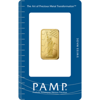 10 gram Gold Bar - PAMP Suisse Liberty