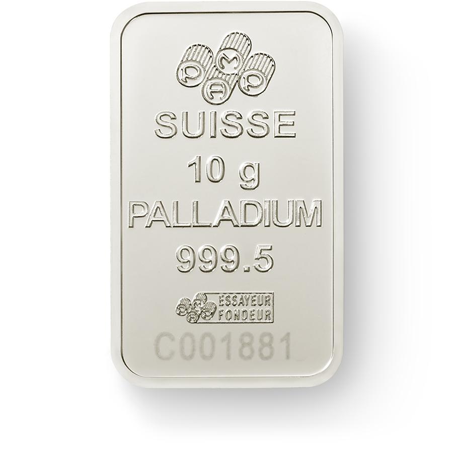 Invest in 10 grams Fine Palladium Lady Fortuna - PAMP Suisse - Back