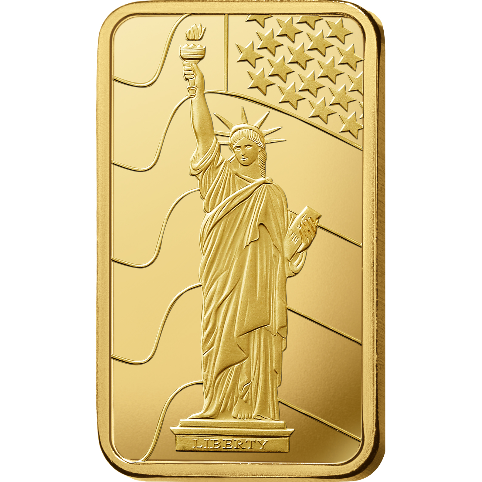 10 gram Fine Gold Bar 999.9 - PAMP Suisse Liberty