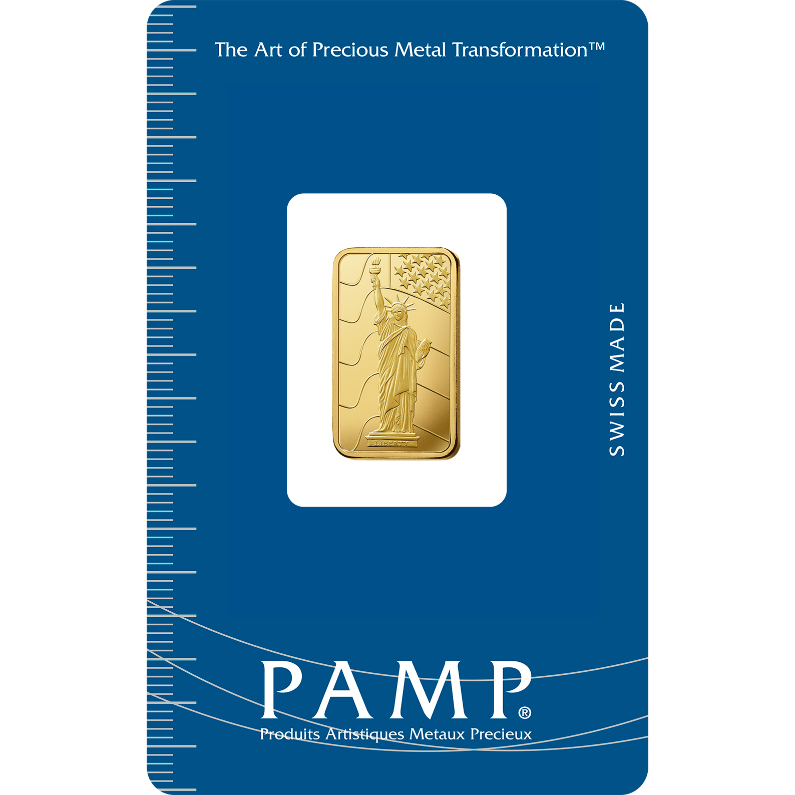 5 grammes lingotin d'or pur 999.9 - PAMP Suisse Liberty