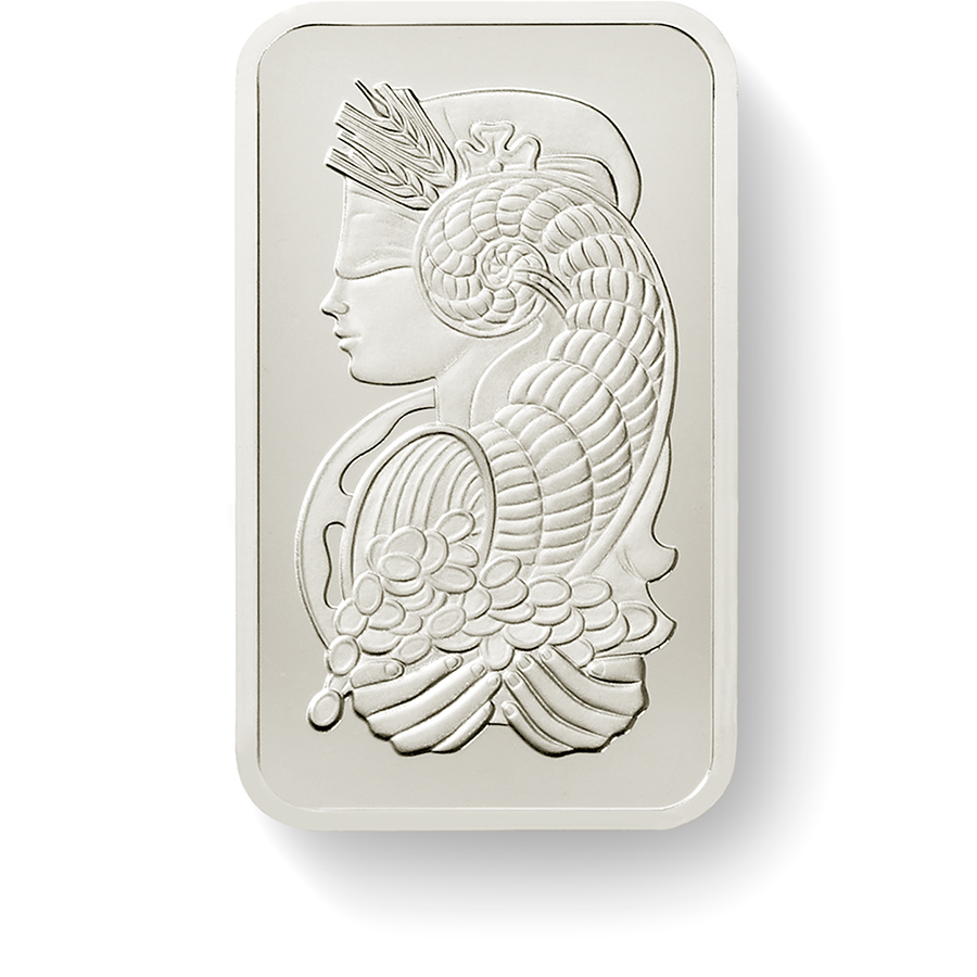 Kaufen Sie - 10 Gramm FeinPalladiumbarren Lady Fortuna - Front