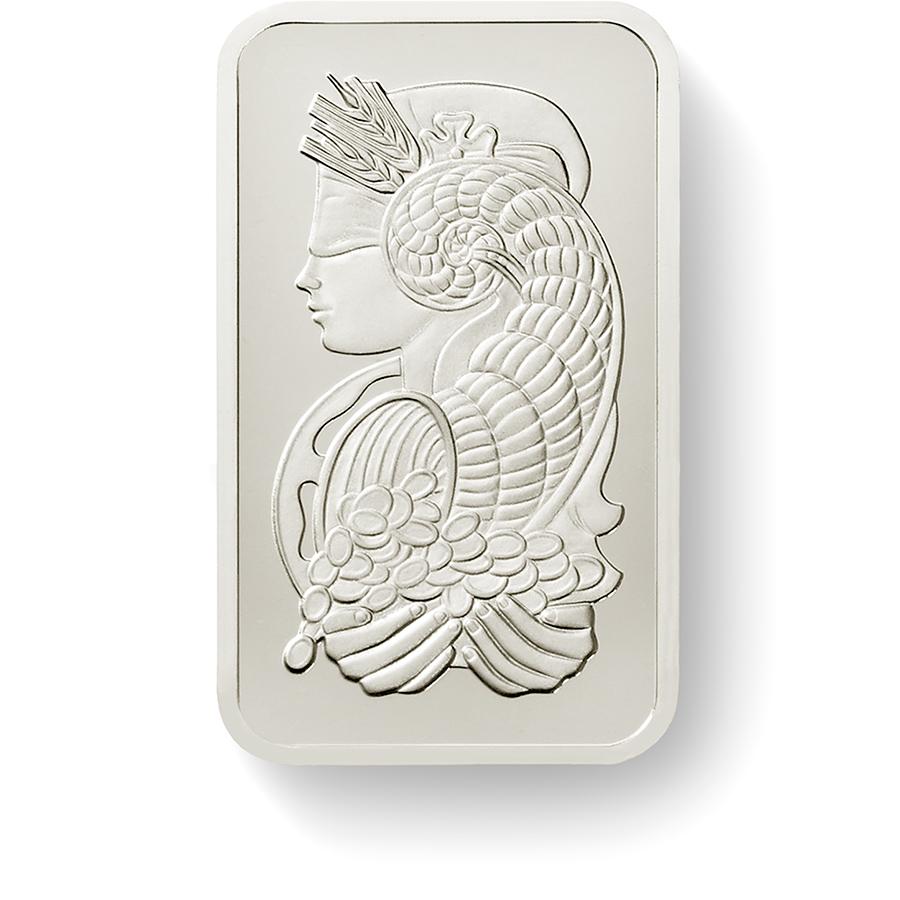 Invest in 10 grams Fine Palladium Lady Fortuna - PAMP Suisse - Front