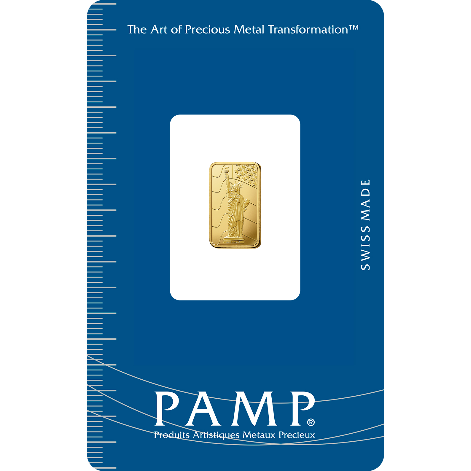 1 gram Fine Gold Bar 999.9 - PAMP Suisse Liberty