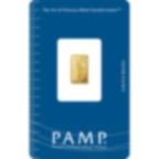1 gramme lingotin d'or pur 999.9 - PAMP Suisse Liberty