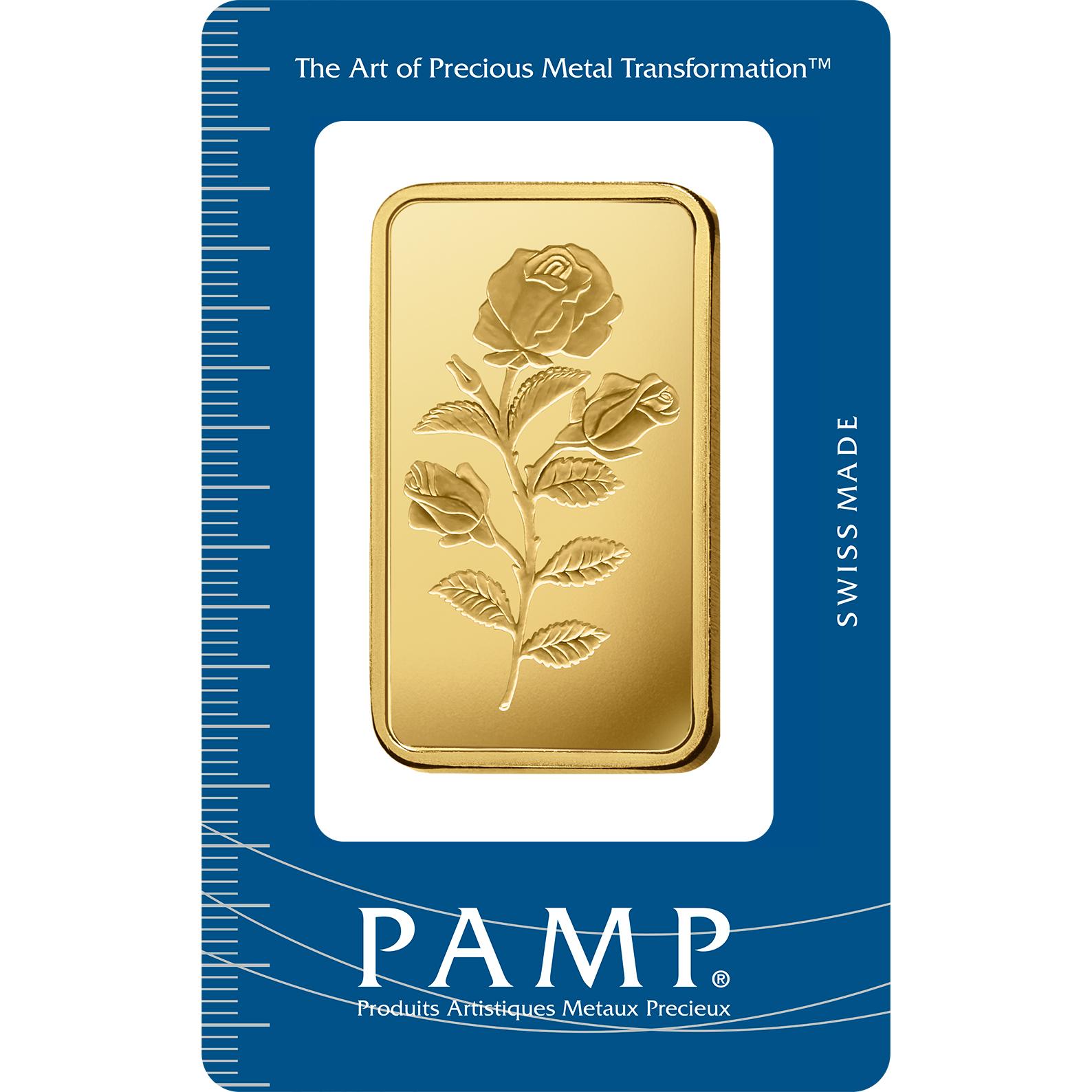100 gram Gold Bar - PAMP Suisse Rosa