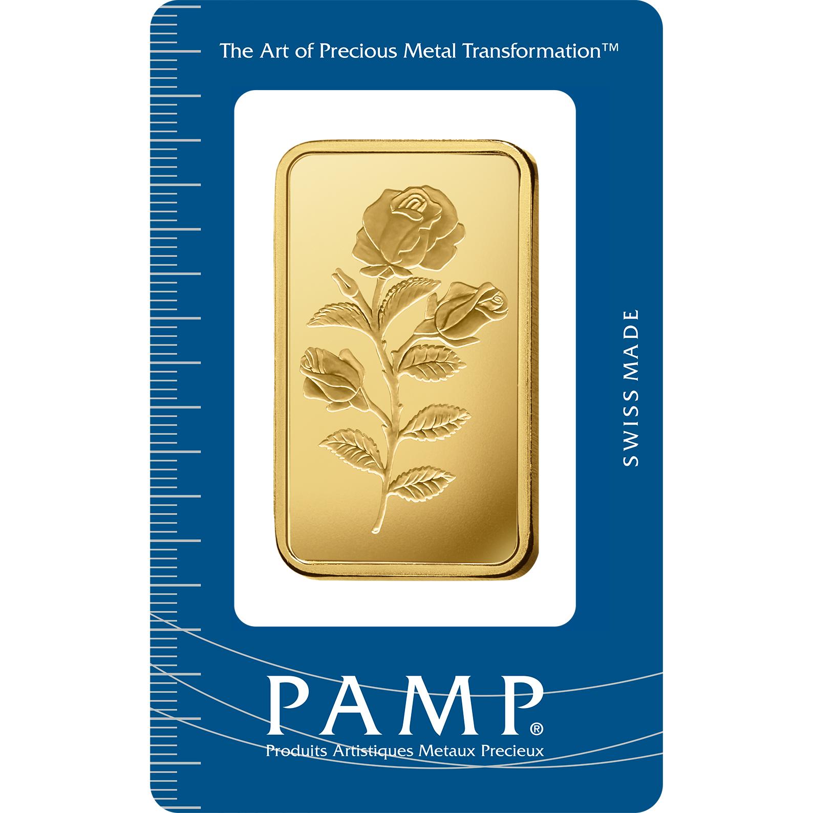 50 grammes lingotin d'or pur 999.9 - PAMP Suisse Rosa